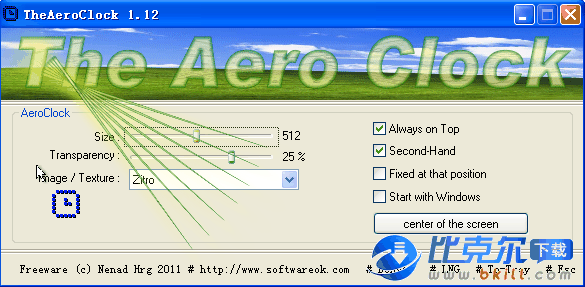 TheAeroClock(可�O置透明度的桌面�r��件)