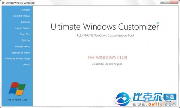 Ultimate Windows Customizer(��性�O置WIN7) V1.0