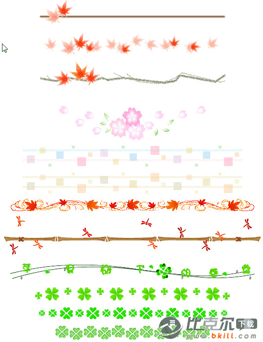 69款精美动态手抄报花边图案素材