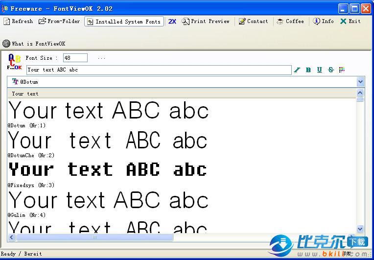 FontViewOK 字体浏览软件