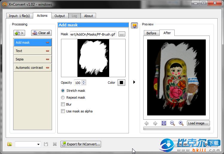 XnConvert 图片格式转换软件