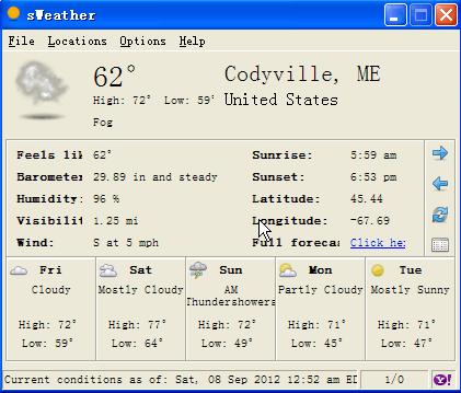 天气预报工具 sWeather