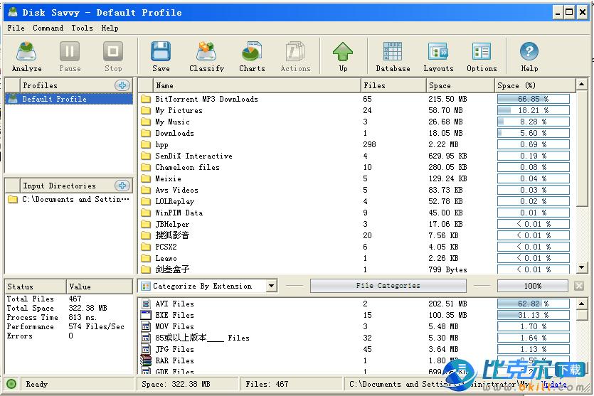 硬盘管理/空间分析工具 Disk Savvy