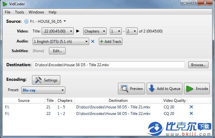 DVD/�{光��l�D�Q�件 VidCoder