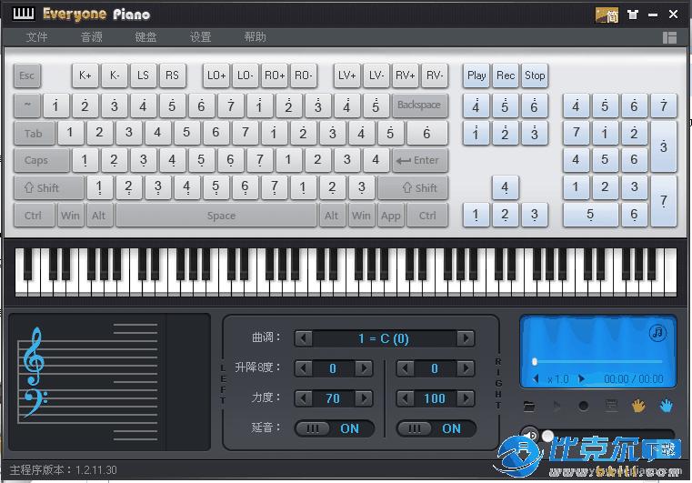 电脑模拟钢琴软件(Everyone Piano)