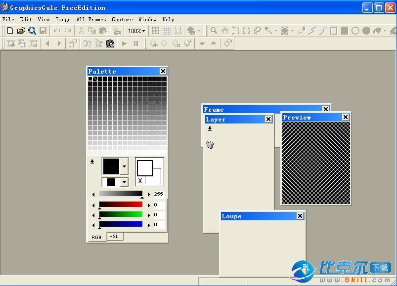 制作图标/动画/AVI视频(GraphicsGale)