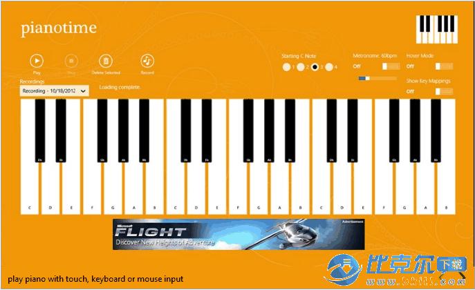 电脑弹钢琴(piano time) win8版 官方版