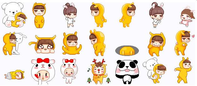 韩站像素表情QQ人物完表情人微动态包踢信整版图片图片