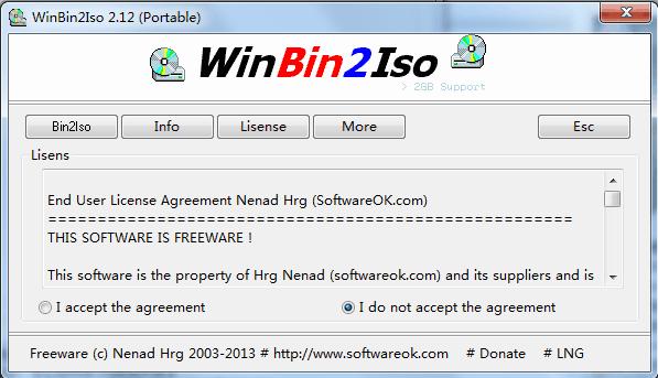 WinBin2Iso(bin文件转ISO格式)