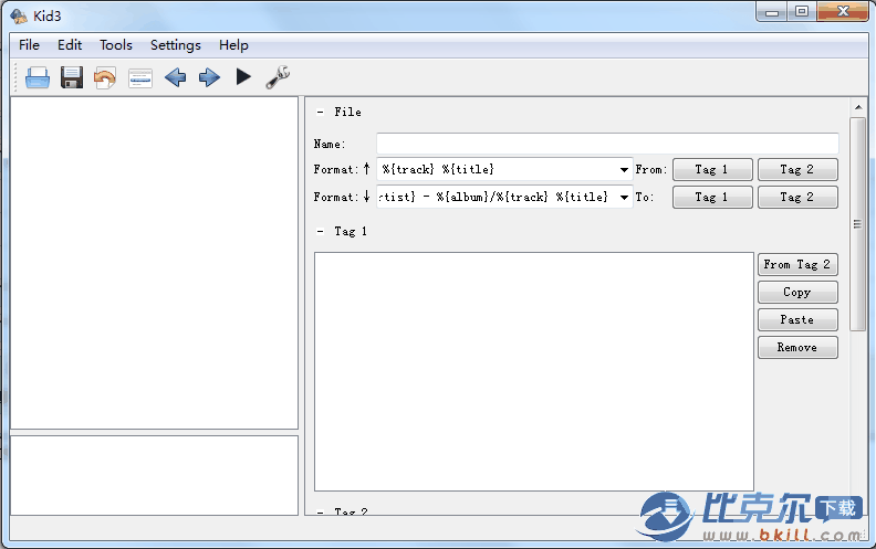 音乐ID3标签编辑器(Kid3)