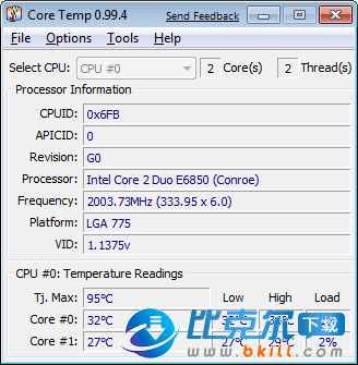 CoreTemp 64位(CPU温度检测软件)