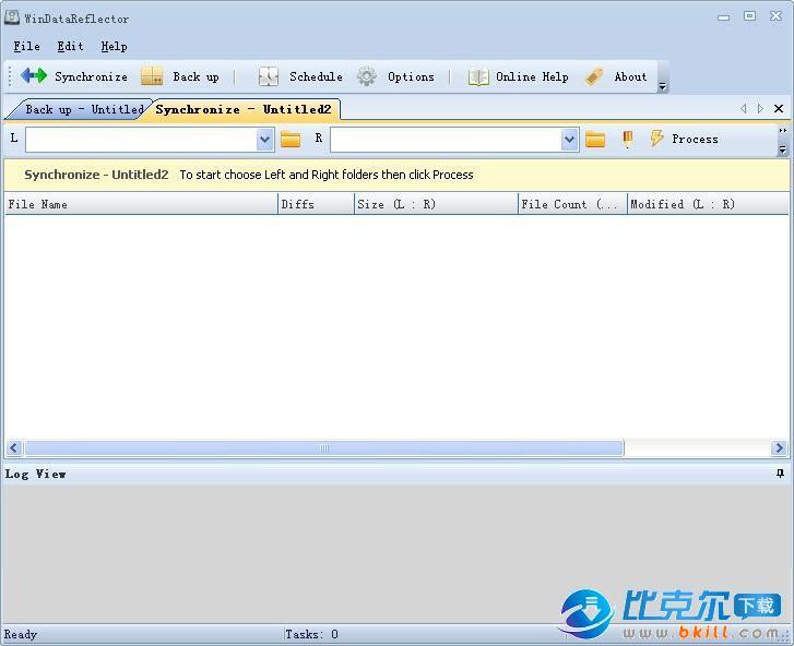 文件和文件夹同步备份软件(WinDataReflector)