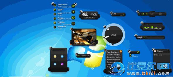 XWidget(win7桌面工具管理工具)