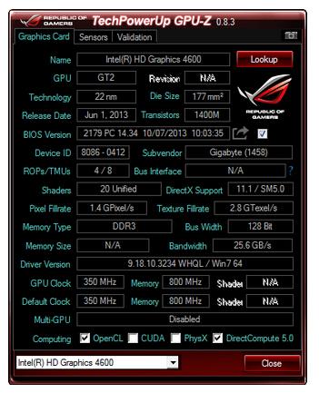 显卡检测软件(TechPowerUP GPU-Z)