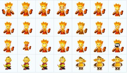 包含了唐僧师徒四人的各种搞怪表情,q版的人物造型和可爱的小黄脸搭配图片