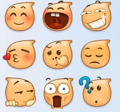 陌陌表情表情63枚水滴外卖表情包头像v表情图片