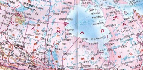 加拿大高清地图