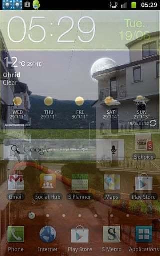 透明屏幕启动app