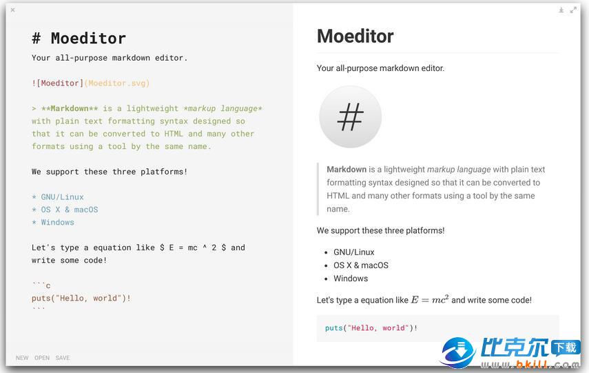 Moeditor(�_源的markdown��器)