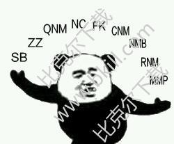 熊猫头问号招式表情包 9枚高清版 最新版图片