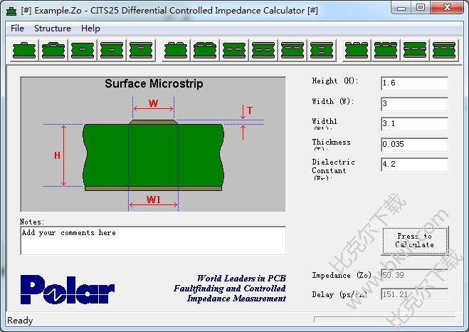 POLAR CITS25阻抗计算软件