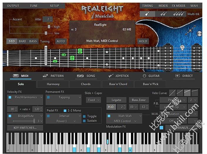 8弦吉他模拟器,MusicLab REALEIGHT
