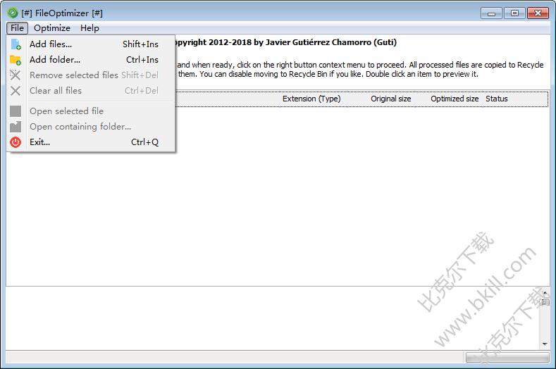 批量压缩优化文件 FileOptimizer