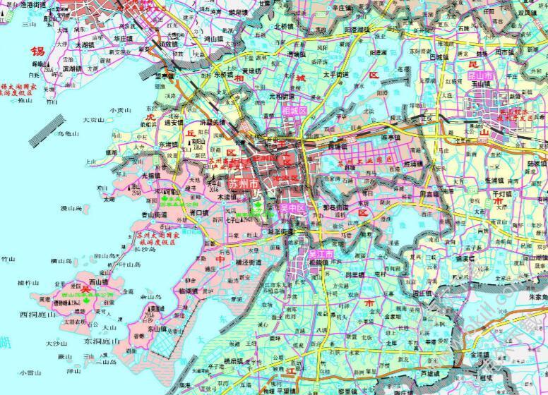 苏州地图全图高清版 jpg 可放大版