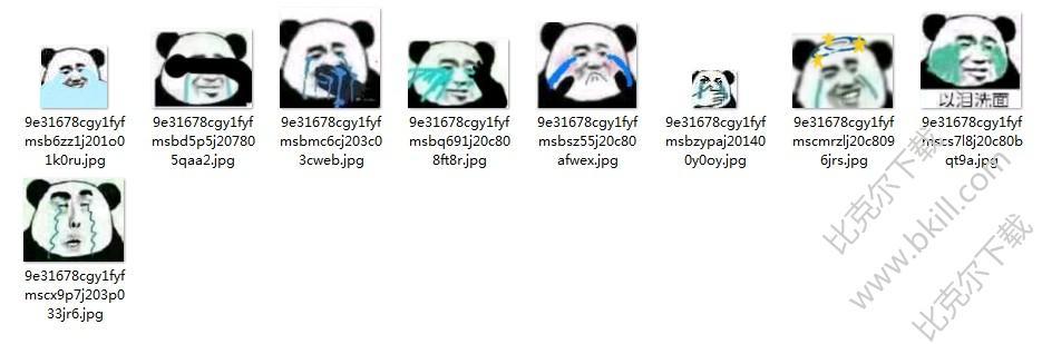 熊猫头流泪表情包