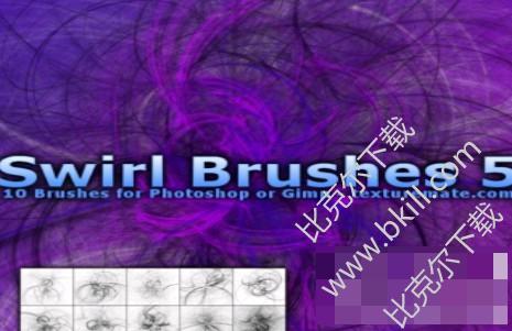 10种混乱光影线条旋转图案Photoshop笔刷