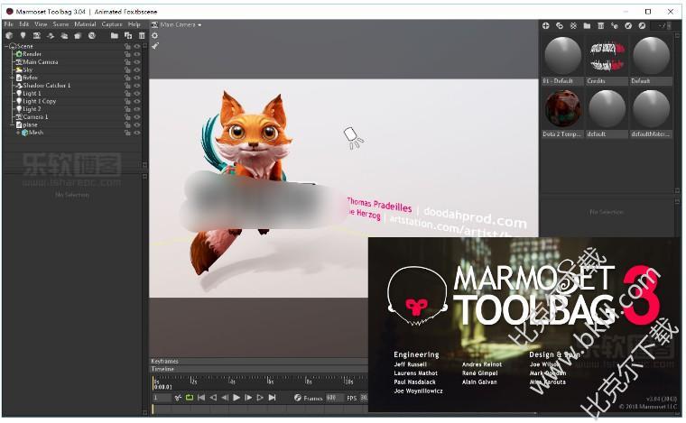 3D渲染动画烘焙套件(Marmoset Toolbag 3)